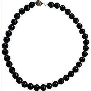 Tiffany & Co. Jewelry - Retired Tiffany Ziegfeld Black Onyx Bead Necklace